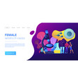 infertility concept landing page vector image vector image