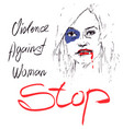 limination of violence against women vector image