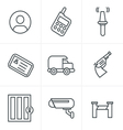 Line Icons Style Security Icons vector image vector image