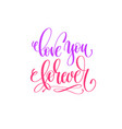 love you forever - hand lettering calligraphy vector image