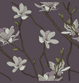 magnolia seamless pattern vector image vector image