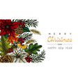 merry christmas and new year backgrounds vector image