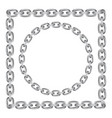 metal chain round and square borders vector image vector image