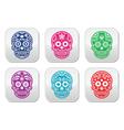 Mexican sugar skull Dia de los Muertos colorful b vector image vector image