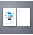 Modern mobile app development flat icon cards vector image vector image