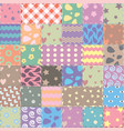 patchwork handicraft fabric background in shabby vector image