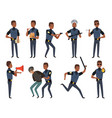 police characters patrol policeman security vector image
