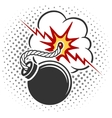 Pop art style bomb vector image vector image
