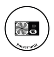 Power unit icon vector image vector image