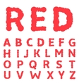 Red paint letters vector image vector image