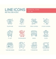 Retro Devices - line design icons set vector image vector image