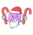 santa with candy color the easter eggs isolated vector image
