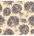 Seamless pattern made of peony bouquets vector image vector image