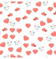 Seamless pattern with cute and chic hearts on vector image vector image