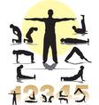 set five Tibetans rituals vector image vector image