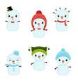 set of christmas characters set of christmas vector image