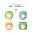 set of holiday carnival avatars vector image vector image