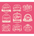 Set of label design elements vector image vector image