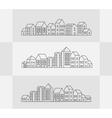 set of linear vector image vector image