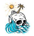 skull island vector image vector image