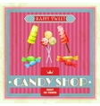 Sweet Shop Poster vector image vector image