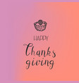 thanksgiving cake concept background simple style vector image vector image