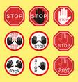 traffic signs traffic stop danger warning vector image vector image