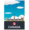 travel to canada america flat vector image vector image