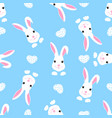 trendy childish seamless pattern with cute easter vector image vector image
