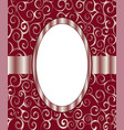 vintage frame background invitation ornament vector image