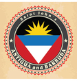 Vintage label cards of Antigua and Barbuda flag