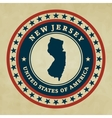 Vintage label New Jersey vector image vector image
