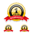 Warranty emblems vector image
