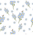 watercolor style forget-me-not flowers pattern vector image