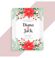 wedding floral card template design vector image vector image