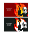 welder in mask business card design vector image vector image