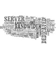 when to consider a dedicated server text word vector image vector image