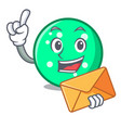 with envelope circle character cartoon style vector image vector image