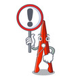 with sign clothes peg character cartoon vector image