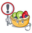 with sign fruit tart character cartoon vector image