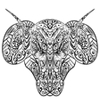 Zentangle stylized ram head vector image vector image