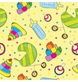 A variety of childrens toys vector image