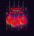 happy easter sale banner spring holiday offer vector image