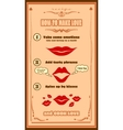 Love recipe card Creative template for invitation vector image