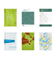 set of book cover designs vector image