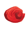 Red acrylic paint circle vector image