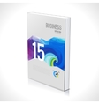 3D Business design template Cover brochure book vector image vector image