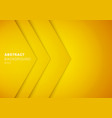 abstract 3d yellow triangle with overlap paper vector image vector image