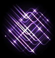 Abstract neon purple background with lines vector image vector image