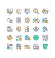asset management rgb color icons set